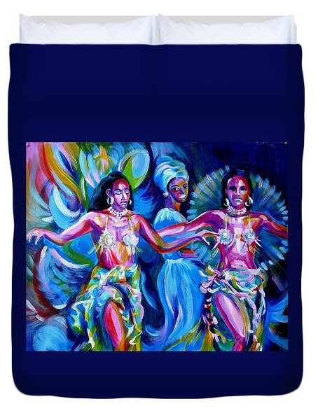 Dancing Panama Duvet Cover by Anna  Duyunova