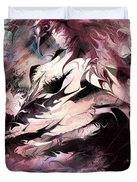 Dancing The Black Dress Duvet Cover by Rachel Christine Nowicki