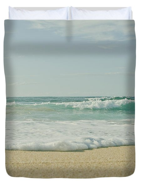 Dancing To The Rhythm Of Joy Duvet Cover by Sharon Mau