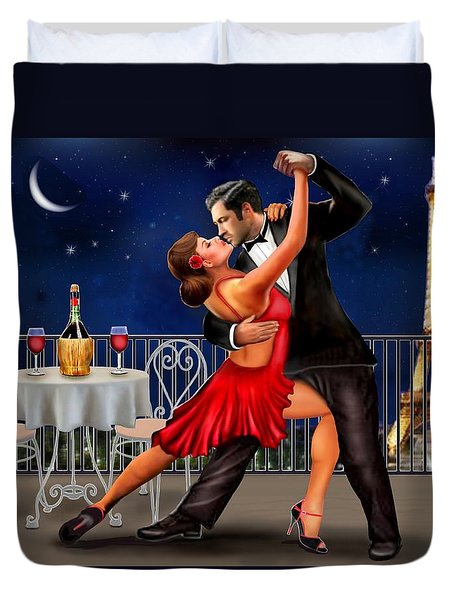 Dancing Under The Stars Duvet Cover