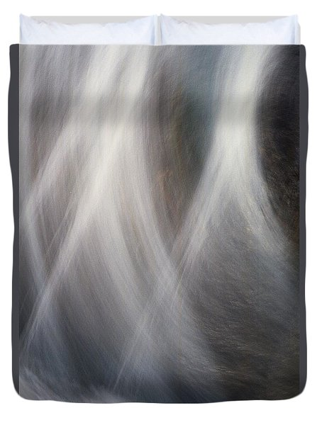 Duvet Cover featuring the photograph Dancing Water by Kathy Bassett