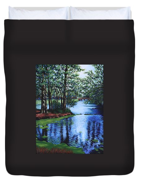 Dancing Waters Duvet Cover