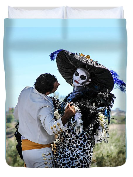 Dancing With The Death Duvet Cover by Menachem Ganon
