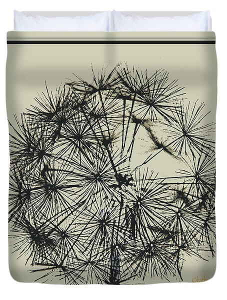 Duvet Cover featuring the photograph Dandelion 6 by Kathy Barney