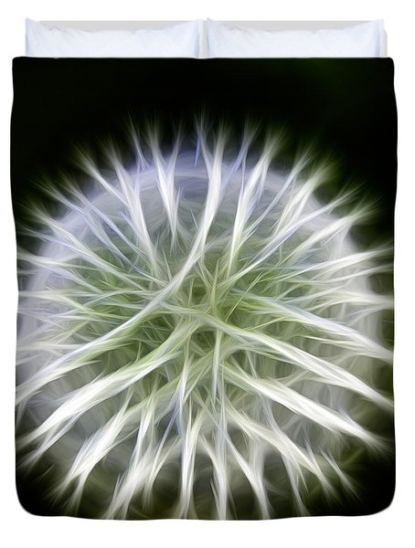 Dandelion Abstract Duvet Cover