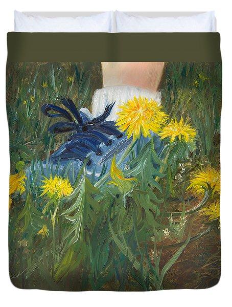 Dandelion Dance Duvet Cover