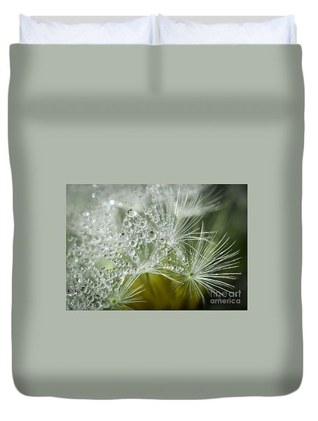 Dandelion Dew Duvet Cover by Amy Porter