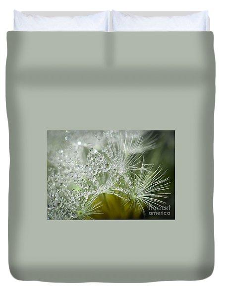 Dandelion Dew Duvet Cover