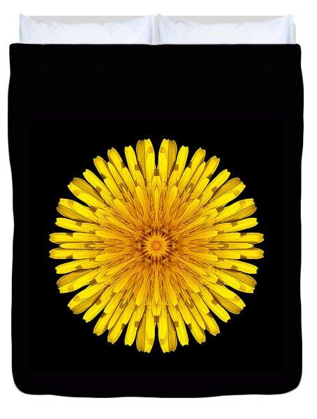 Dandelion Flower Mandala Duvet Cover
