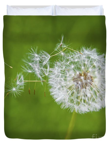 Dandelion In The Wind Duvet Cover by Diane Diederich