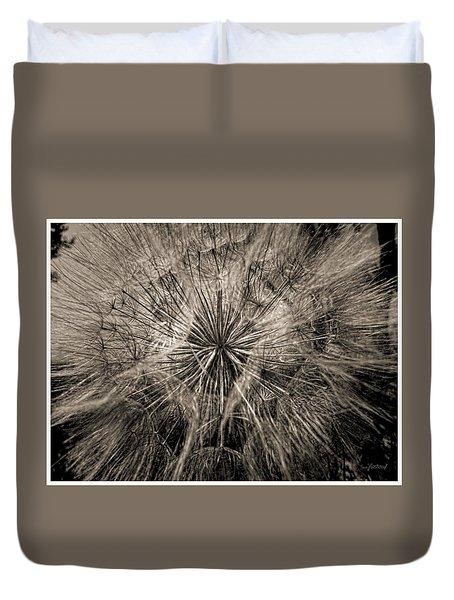 Duvet Cover featuring the digital art Dandelion by Maciek Froncisz