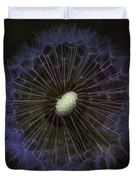 Dandelion Nebula Duvet Cover by Kathy Clark