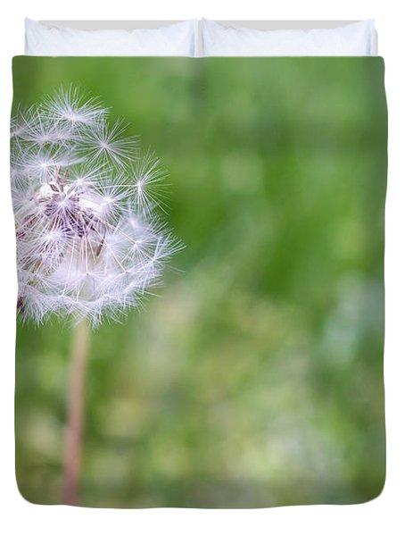 Dandelion Seed Ball Duvet Cover by James Drake