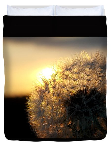Dandelion Sunset Duvet Cover