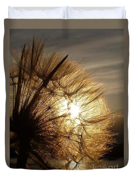 Dandelion Sunset Duvet Cover