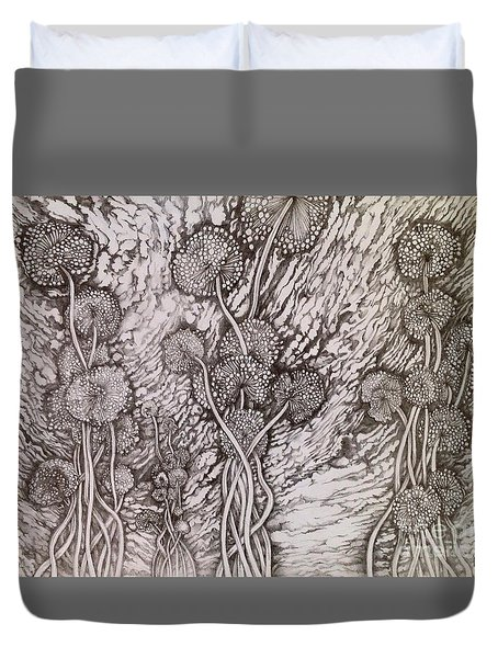 Dandelions Duvet Cover by Iya Carson