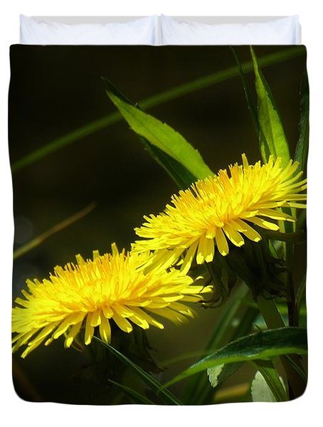 Duvet Cover featuring the photograph Dandelions by Sherman Perry