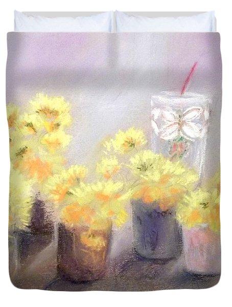 Dandelions Duvet Cover by Yoshiko Mishina