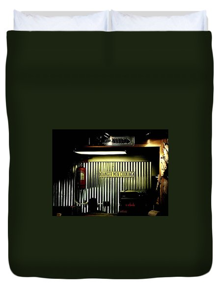Danger Men Cooking Duvet Cover
