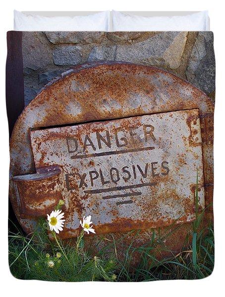 Danger Explosives Duvet Cover