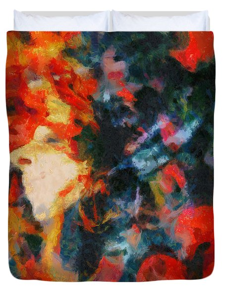 Duvet Cover featuring the painting Dangerous Passion by Joe Misrasi