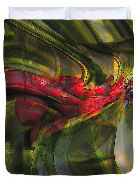 Duvet Cover featuring the digital art Dangerous by Richard Thomas