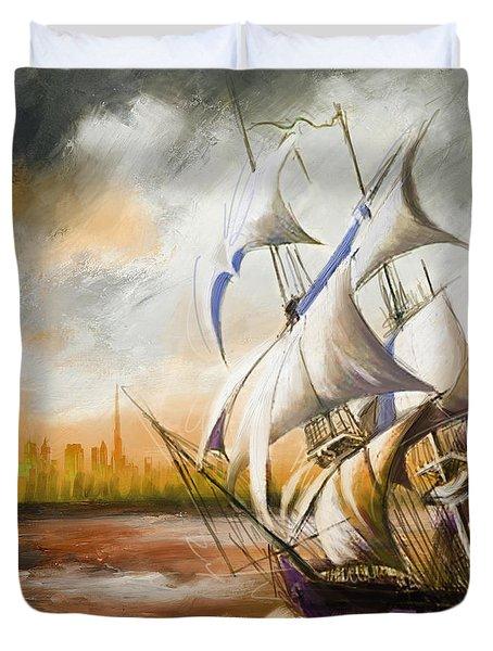 Dangerous Tides Duvet Cover by Corporate Art Task Force