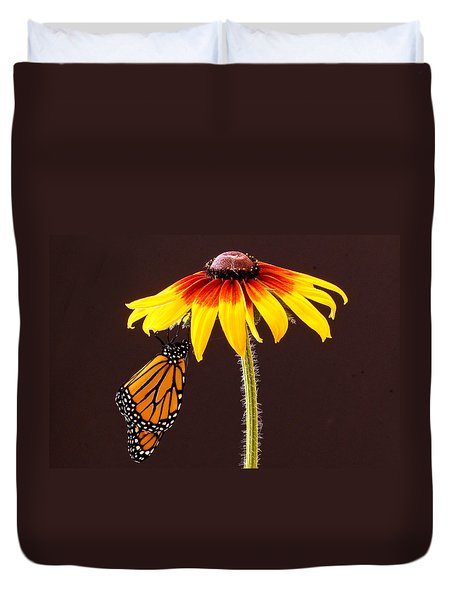 Dangling Monarch Duvet Cover by Jean Noren