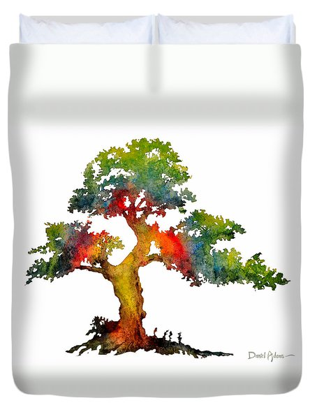 Da140 Rainbow Tree Daniel Adams Duvet Cover