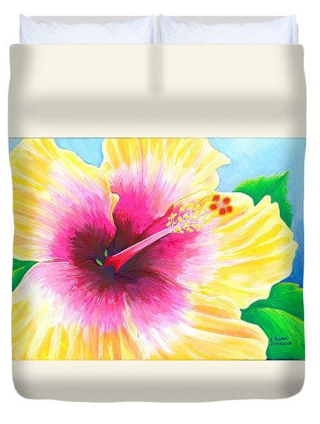 Dan's Hibiscus Duvet Cover