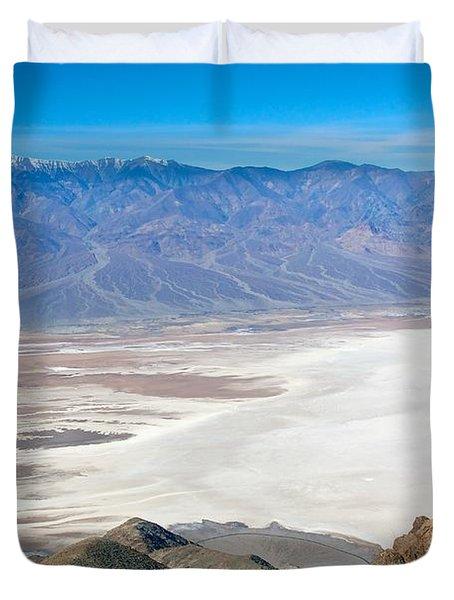 Duvet Cover featuring the photograph Dante's View #3 by Stuart Litoff