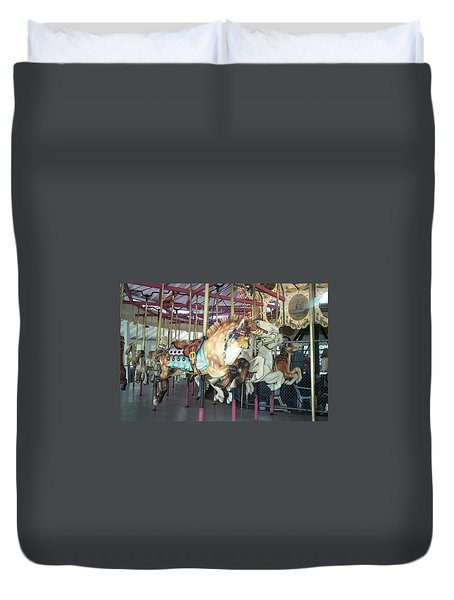 Duvet Cover featuring the photograph Dapled Pony by Barbara McDevitt