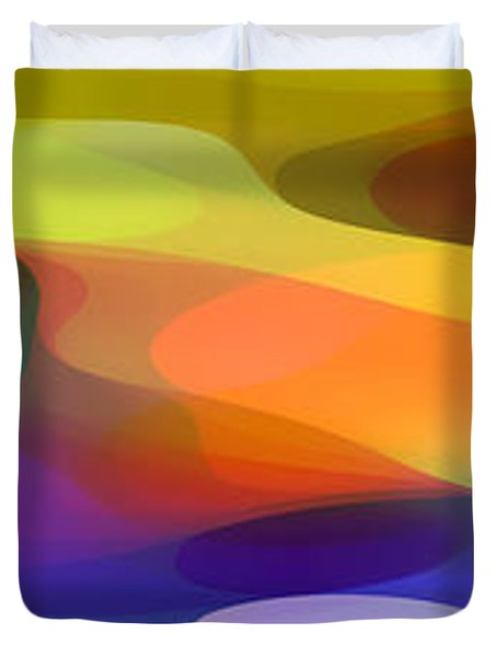 Dappled Light Panoramic 1 Duvet Cover by Amy Vangsgard
