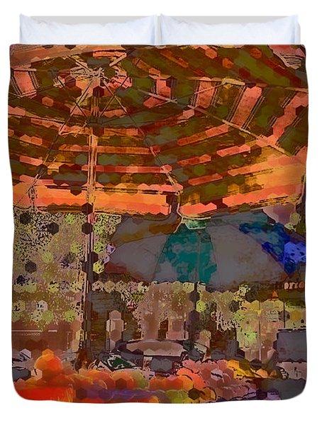 Duvet Cover featuring the photograph Dappled Sun by Miriam Danar