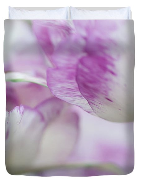Dappled Tulips. The Tulips Of Holland Duvet Cover
