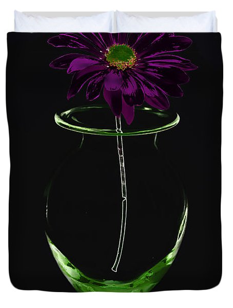 Dark Bloom Duvet Cover
