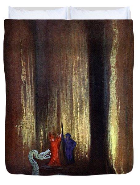 Dark Cavern, 1906 Duvet Cover