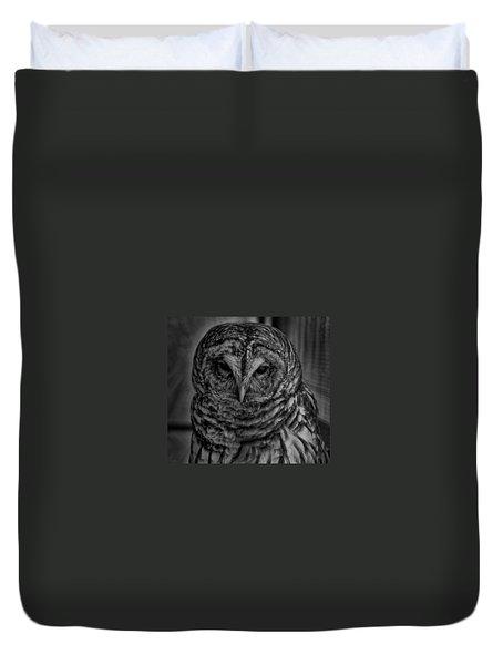 Dark Owl Duvet Cover