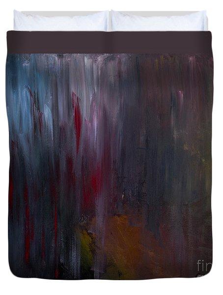 Dark Rain Duvet Cover
