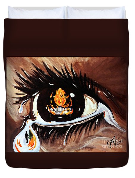 Dark Sorrow  Duvet Cover by Jackie Carpenter