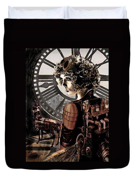 Dark Steampunk Duvet Cover by Jane Schnetlage