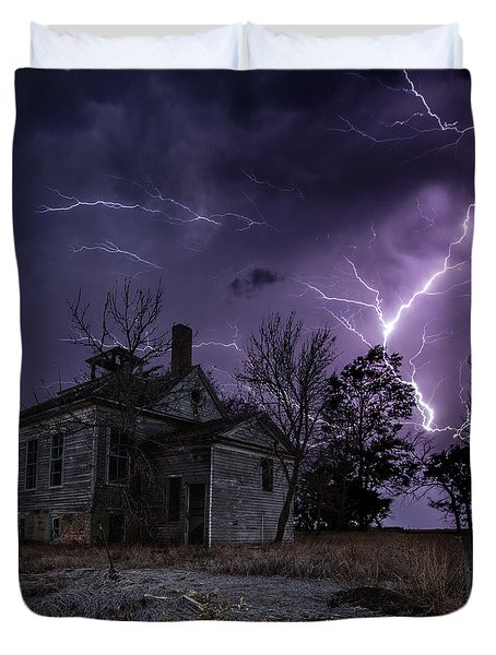 Dark Stormy Place Duvet Cover