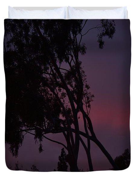 Dark Violet Sunset Duvet Cover