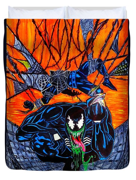 Darkhawk Issue 13 Homage Duvet Cover