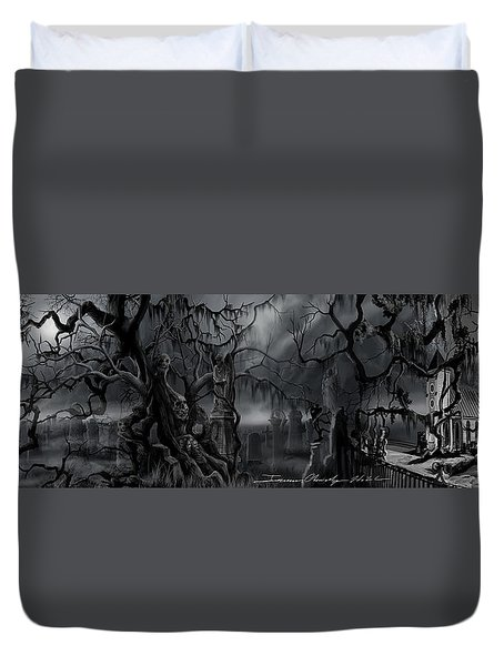 Darkness Has Crept In The Midnight Hour Duvet Cover