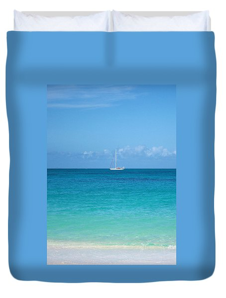 Duvet Cover featuring the photograph Darkwood Beach by The Art Of Marilyn Ridoutt-Greene