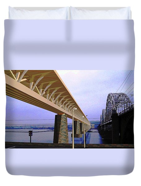 Darnitsky Bridge Duvet Cover