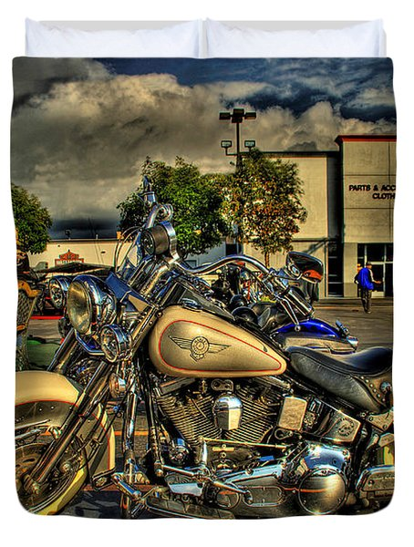 Darrell Keller Memorial Poker Run Duvet Cover