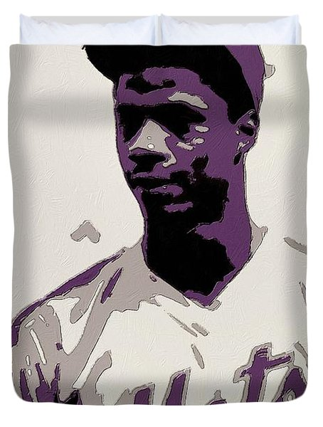 Darryl Strawberry Poster Art Duvet Cover