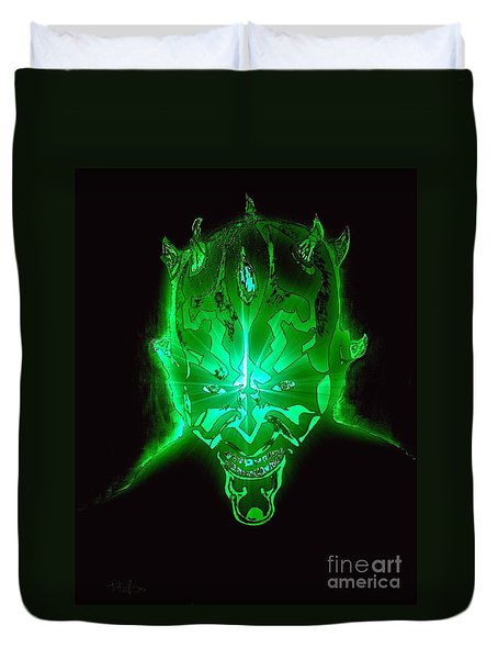 Darth Maul Green Glow Duvet Cover by Saundra Myles